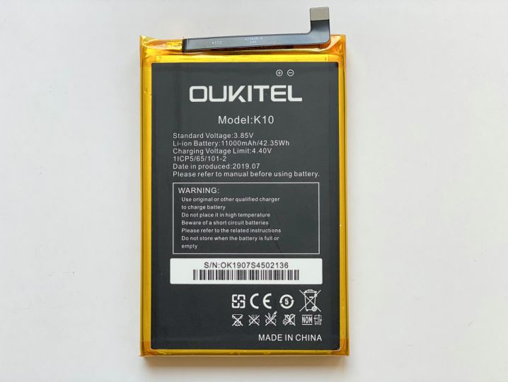 Батерия за Oukitel K10